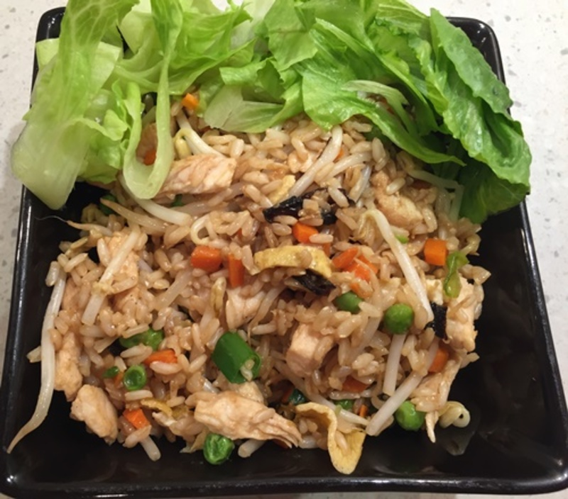chicken,rice,with,vegetables  - Easy Fried Rice with Egg, Chicken & Vegetables