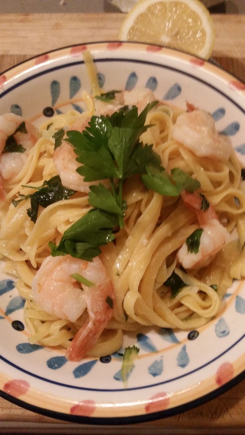 Chilli & Garlic Prawn Pasta