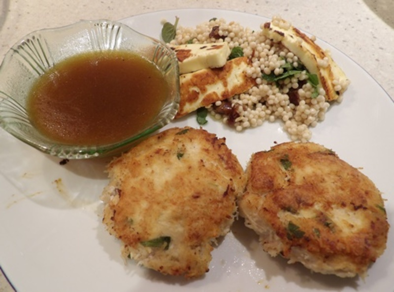 chilli,chicken,with,lime,sauce  - Chili Chicken and Noodle Patties with a Lime Sauce