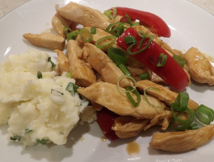 chilli,honeyed,chicken,with,mashed,potatoes