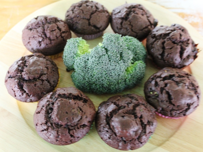 Chocolate Broccoli Cupcakes