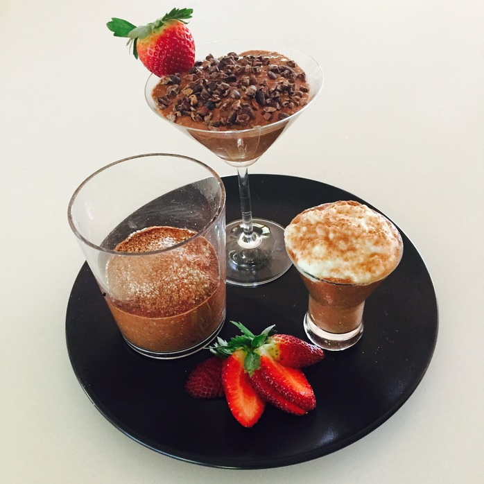 Chocolate Mousse Three Ways (Dairy Free)