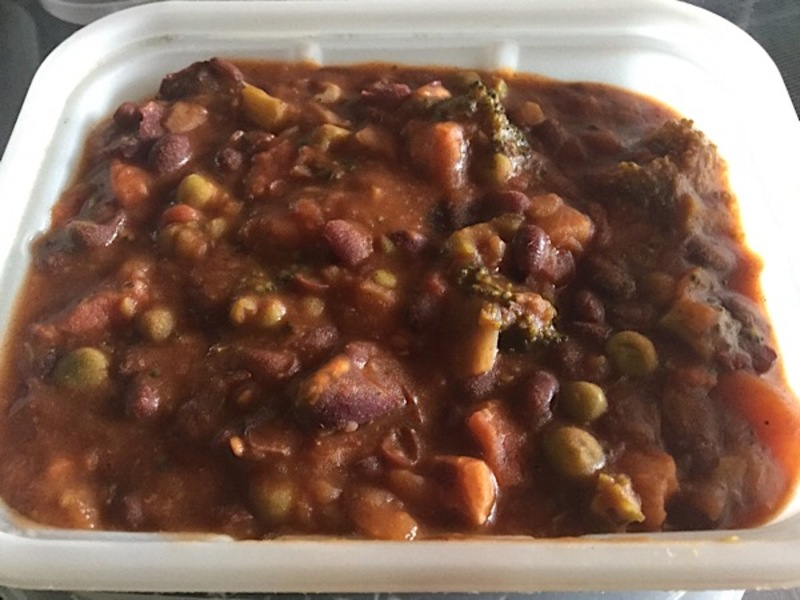 chunky, chilli con carne, vegetarian, sweet potato