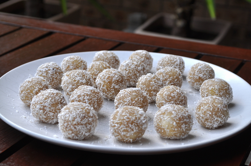 Coconut and Macadamia Protein Balls