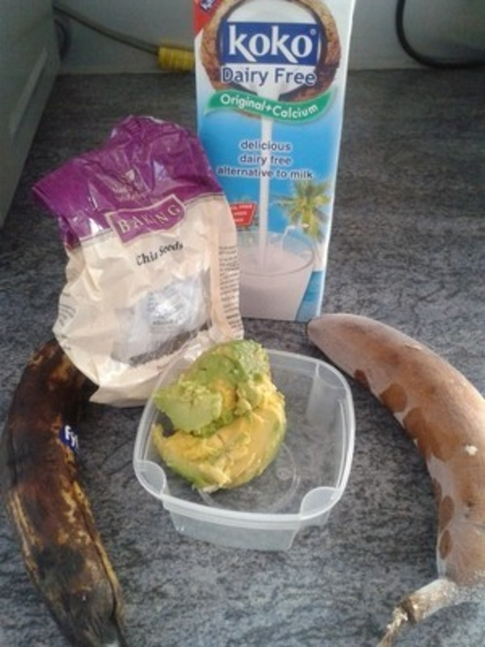 coconut milk, kara, dairy free, avocado, bananas,