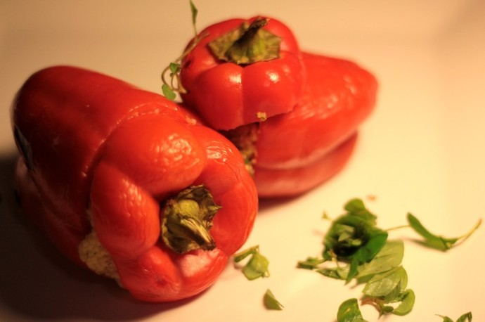 Couscous stuffed capsicums