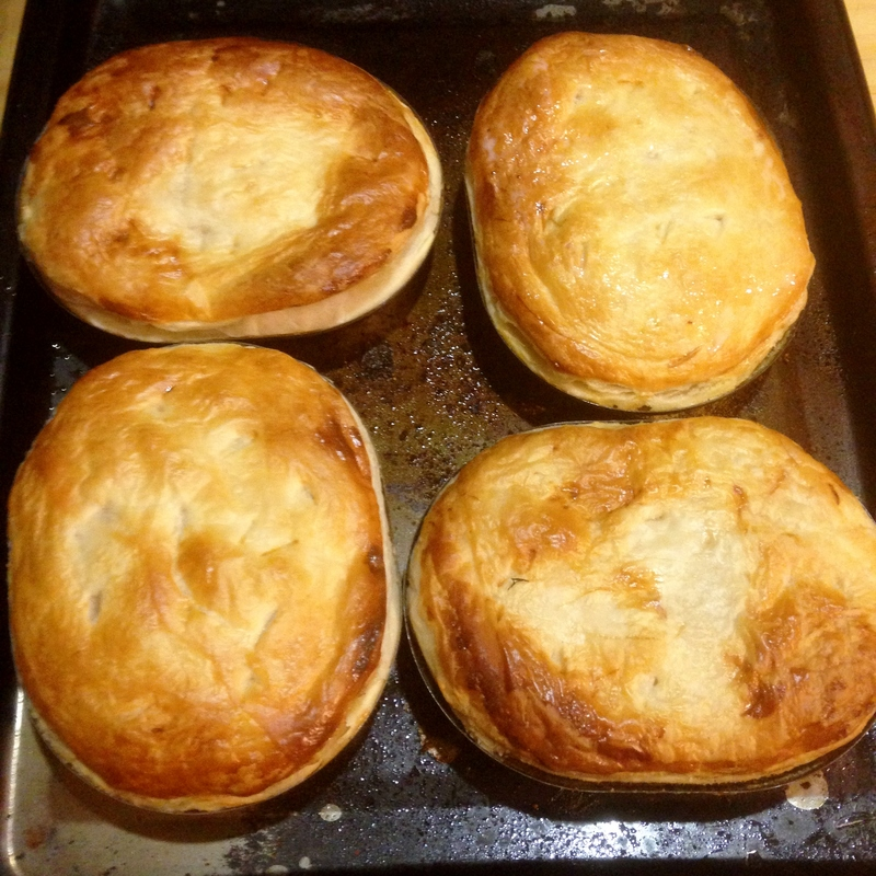 Cooked  - Chicken And Mushroom Pie With Leek And White Wine