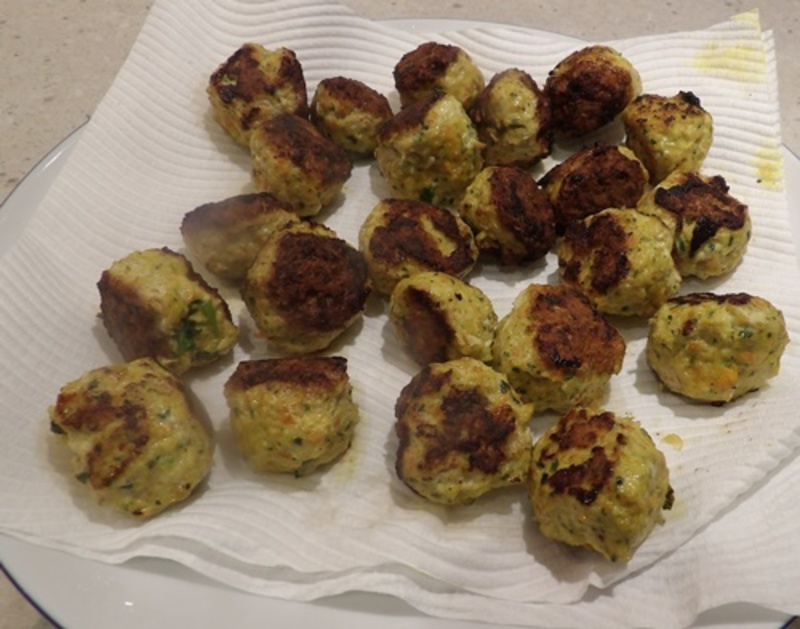 cooked,coconut,curry,chicken,meatballs  - Coconut Curry Chicken Meatballs With Quinoa