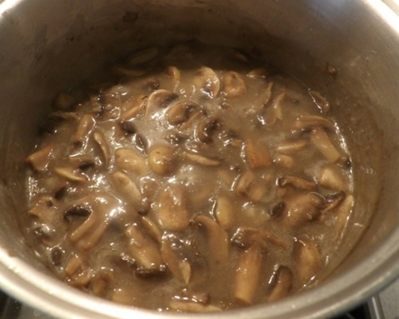 cooking,mushrooms,for,soup  - Cream of Mushroom Soup