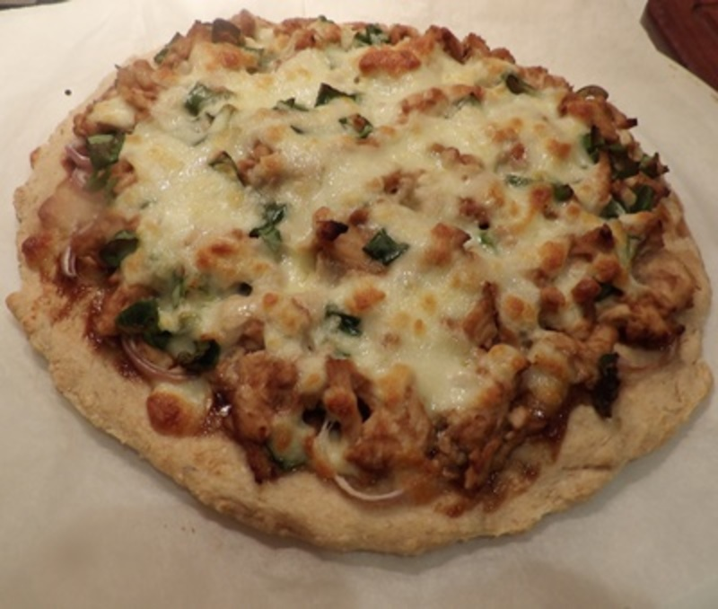 pizza,base,rising  - Wholemeal Pizza Base With Asian Style Topping