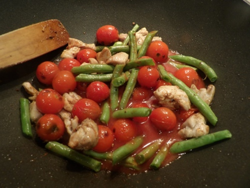 cooking,chicken,with,vegetables,and,spices  - Reduced Fat Butter Chicken
