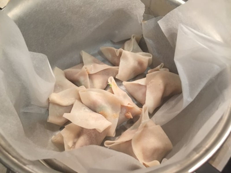 mixing,mixture,for,wontons  - Chicken Gow Gees or Wontons