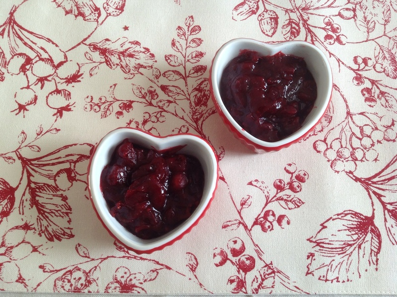 Cranberries, saucepan