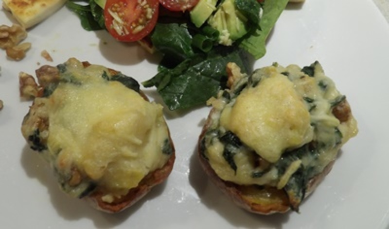 crispy,potato,skins,with,spinach,and,cheese