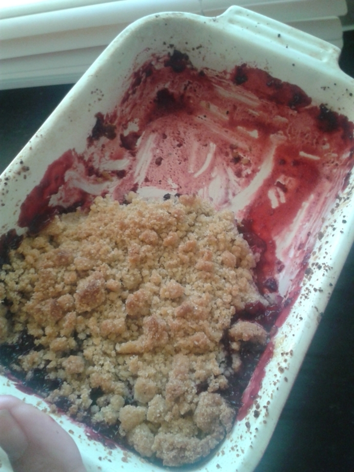 crumble, berry crumble