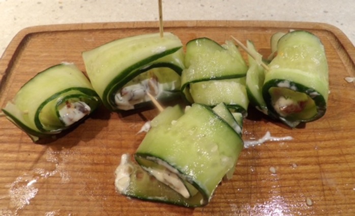 Cucumber And Feta Rolls Recipe — Dishmaps