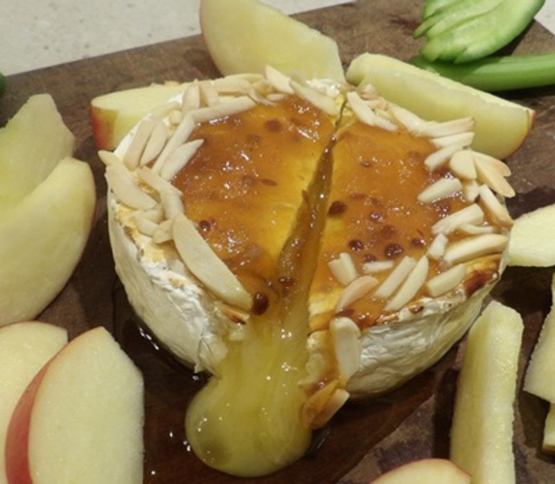cut,baked,brie  - Baked Brie with Mango Chutney
