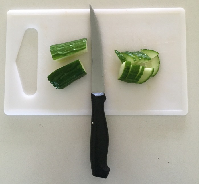 Cutting cumber to maintain crunch