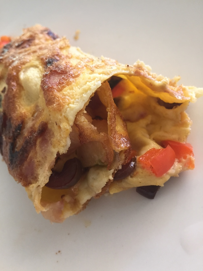Delicious pizza style omelette a great alternative to pizza