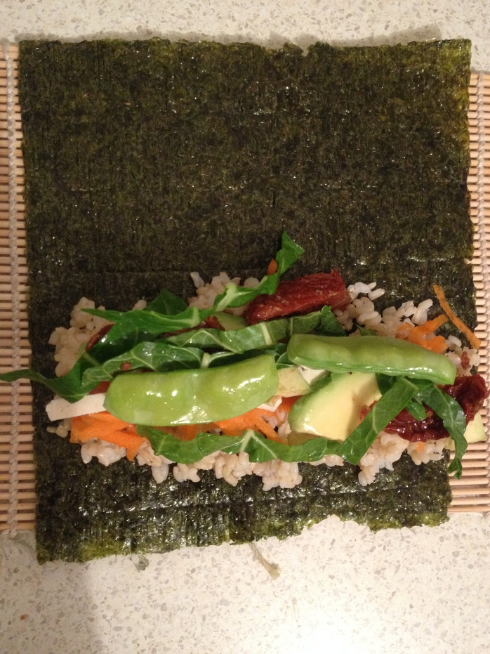 Deluxe vegetable sushi