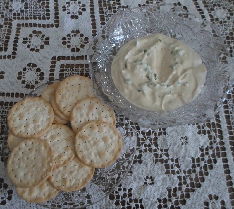 Dip And Crackers  - Super Simple French Onion Dip