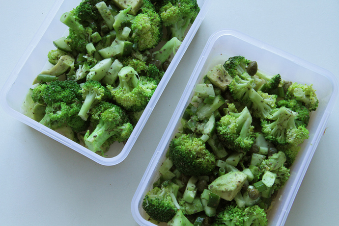 Broccoli florets, yummy vegetarian lunch