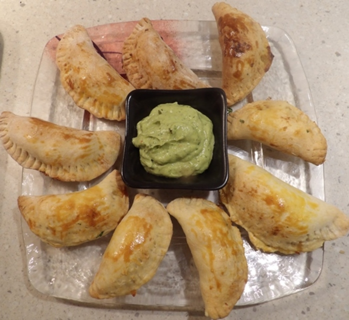 empinadas,filled,with,smoked,trout,and,avocado,dip