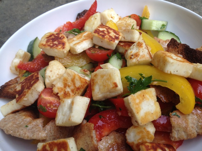 Fattoush, salad, fatoush