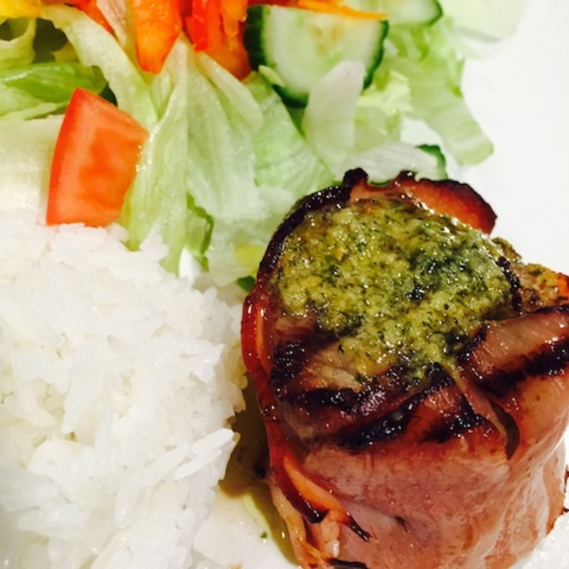 Fillet Mignon And Bacon With Garlic And Herb Butter