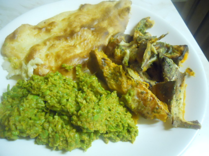 fish & chips, mushy peas, pancake batter  - Fish & Chips With A Difference