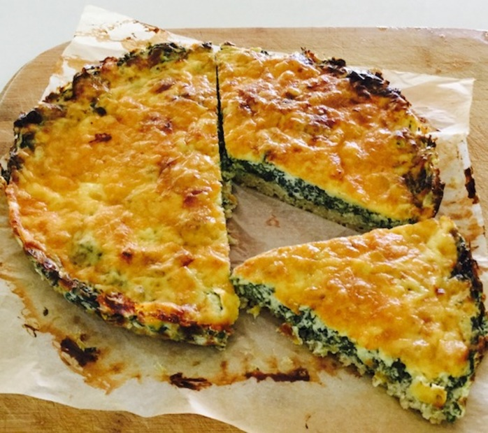 Flourless Spinach And Cheese Quiche Delicious