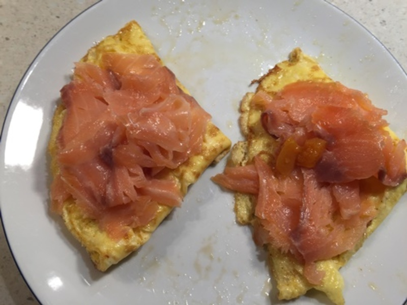 cooking,omelette  - Smoked Salmon Omelette