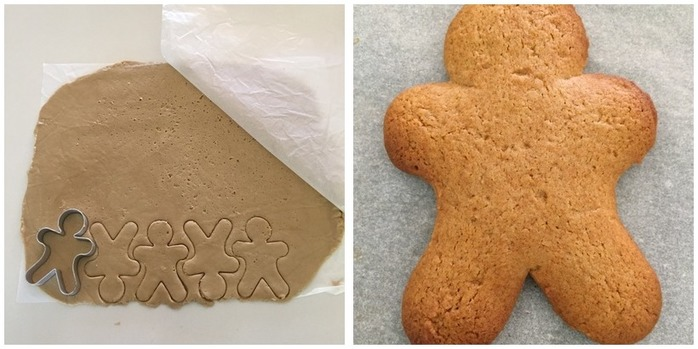 Freezable Gingerbread Men Dough Montage