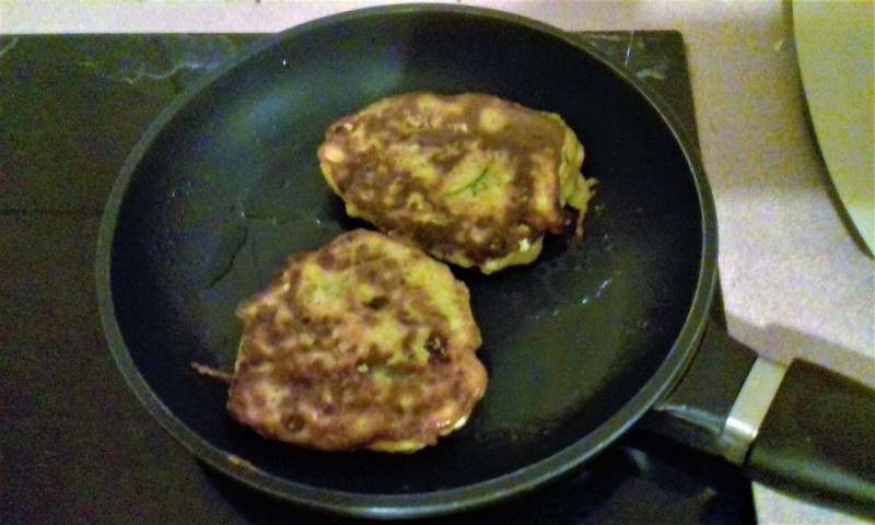 Zucchini, Feta and Carrot Fritters