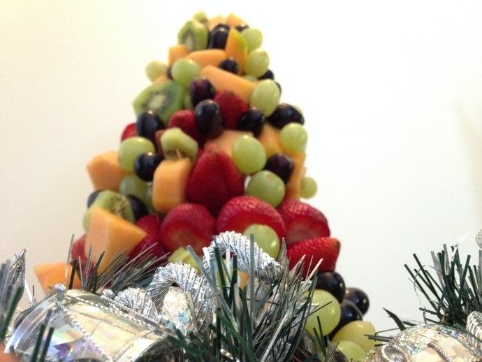 Fruit christmas tree, fruit salad, fruit tree