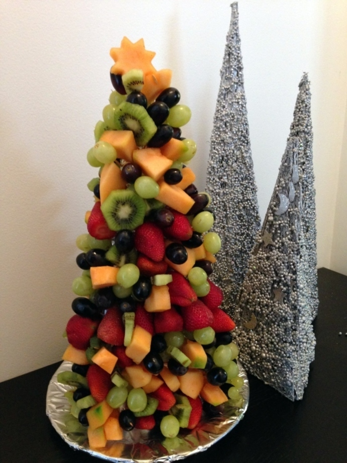 Fruit christmas tree recipe recipeyum fruit christmas tree fruit salad forumfinder Images