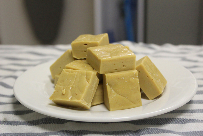 fudge, caramel fudge, easy fudge recipe, condensed milk fudge, sweets, candy