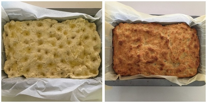 Garlic And Cheese Focaccia (Yeast Free) Montage - Garlic and Cheese Focaccia (Yeast Free)