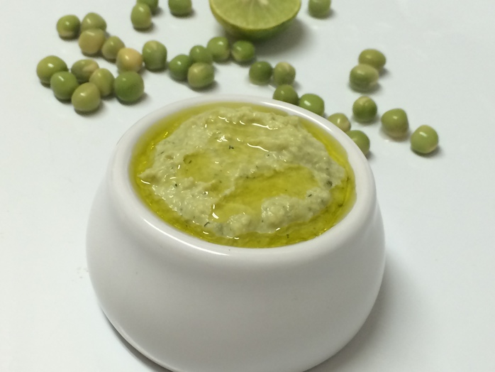 Combine peas, ginger, garlic, curry leaves, black pepper, chilli,salt