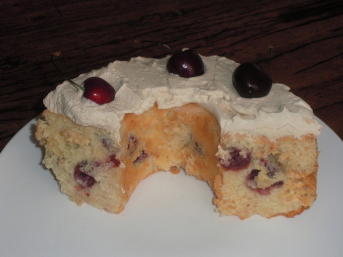 cherries,white chocolate,mixture