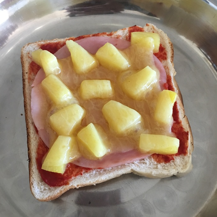 Ham & Pineapple Open Grill
