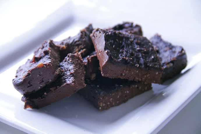 Low fat low sugar chocolate banana fudge