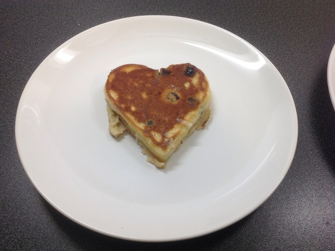 Heart-shaped pancake