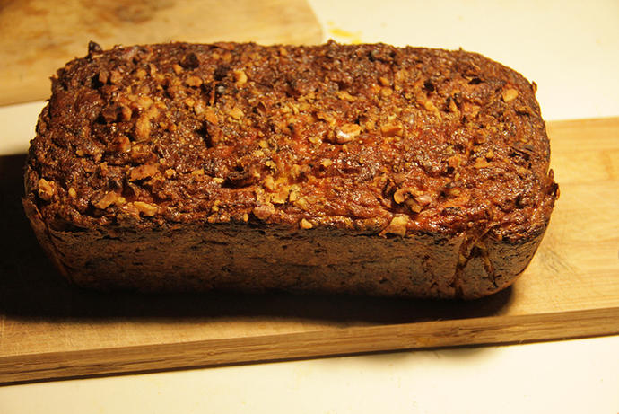 Homemade pumpkin bread, pumpkin slice