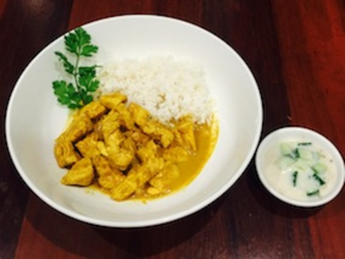 Homemade Chicken Korma With Raita