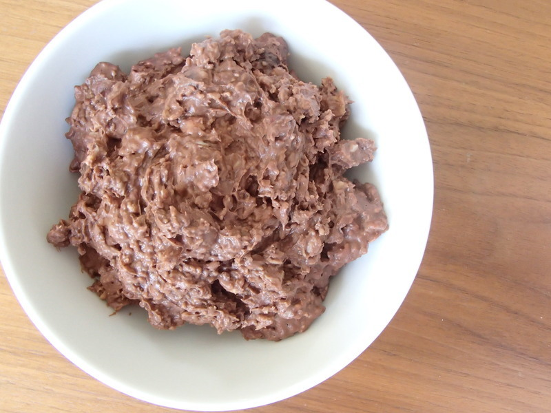 Chocolate Porridge on Toast