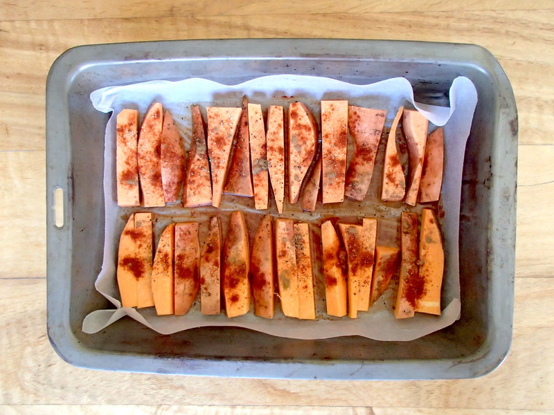 Paprika Sweet Potato Wedges