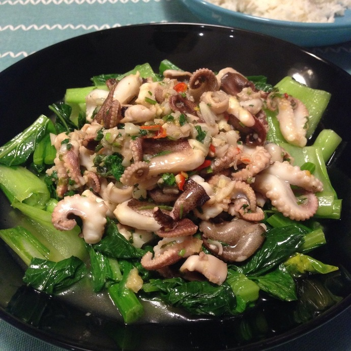 Baby octopus with ginger lime recipe recipeyum stir fry asian thai vietnamese easy simple quick i like this recipe forumfinder Choice Image