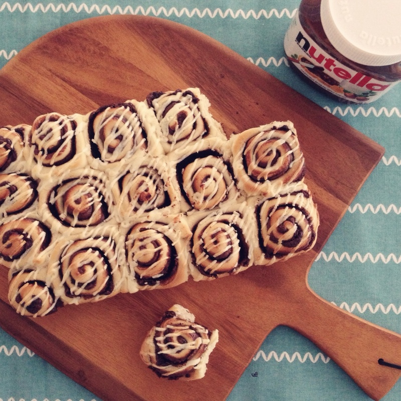 Nutella Roll with Cream Cheese Frosting