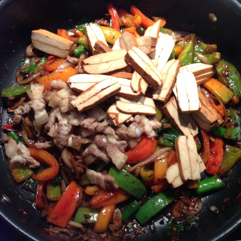 Stir Fried Twice Cooked Pork & Tofu with Black Bean